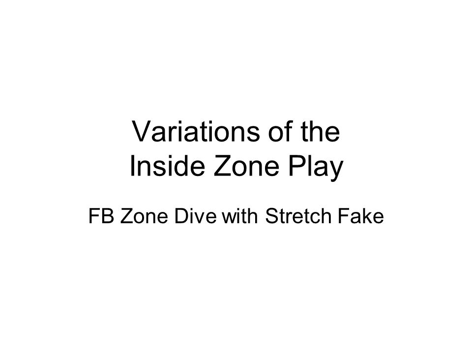 Variations of the Inside Zone Play Two Back Split Flow