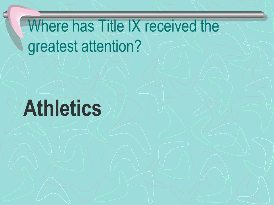 Where has Title IX received the greatest attention Athletics