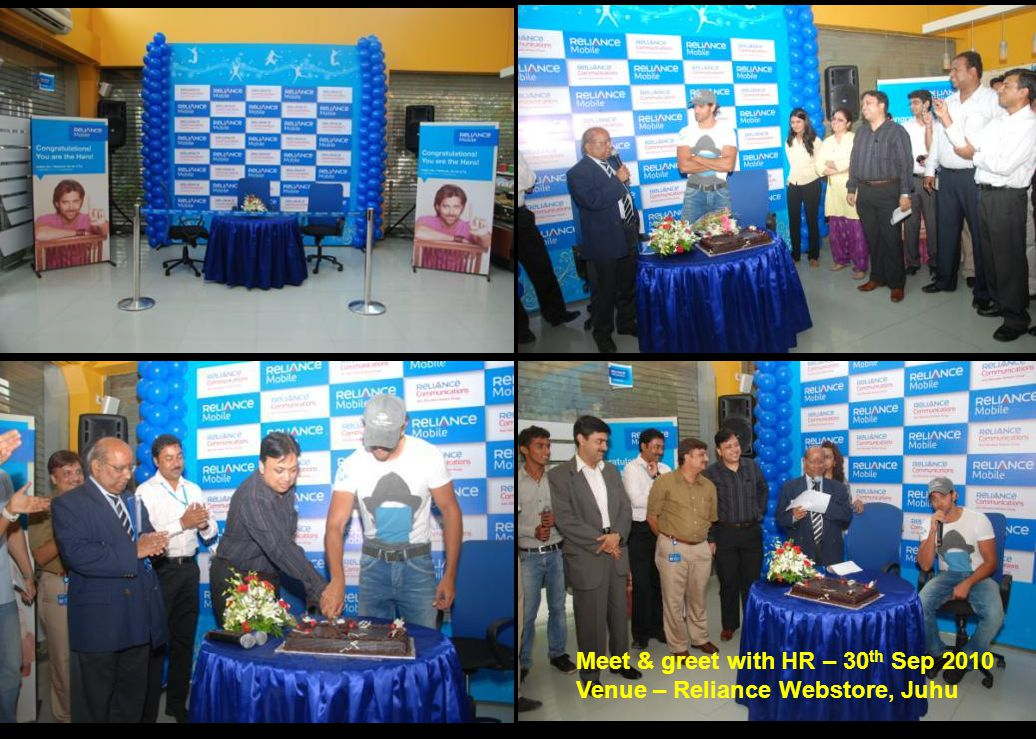 Meet & greet with HR – 30 th Sep 2010 Venue – Reliance Webstore, Juhu