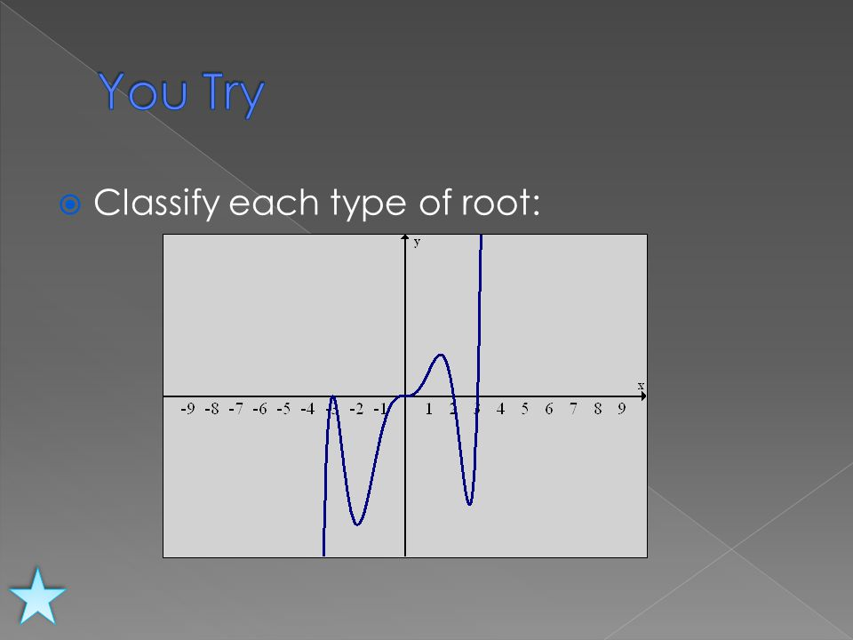  Classify each type of root: