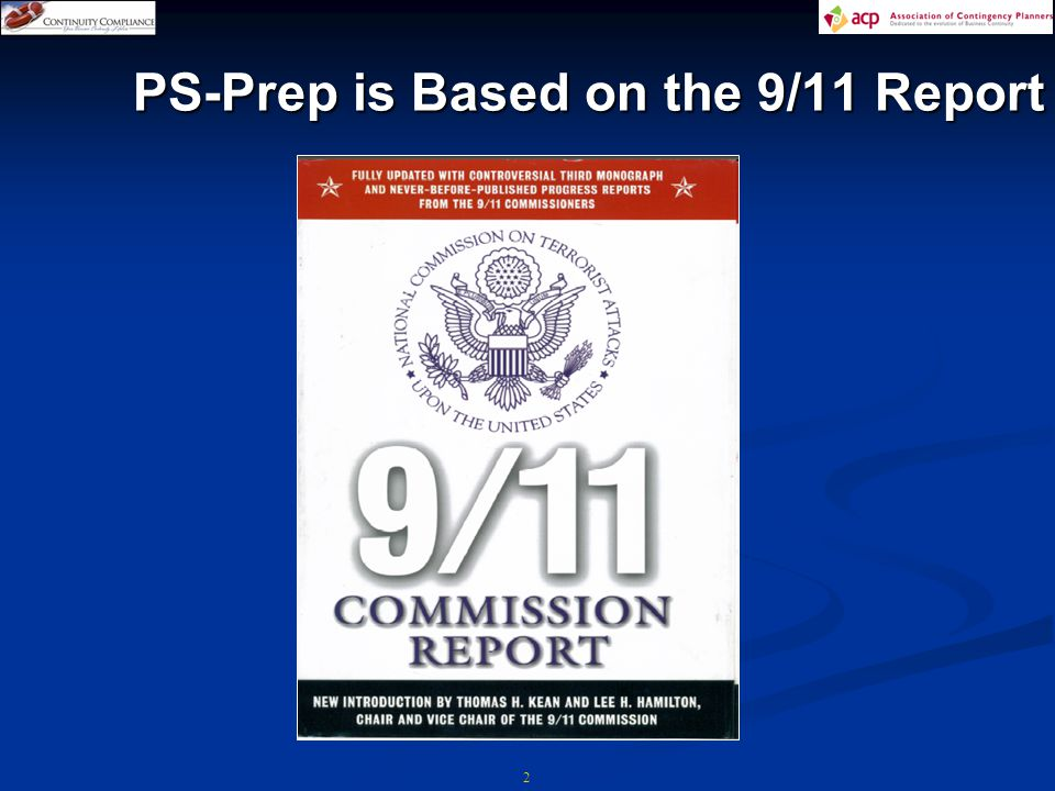PS-Prep is Based on the 9/11 Report 2