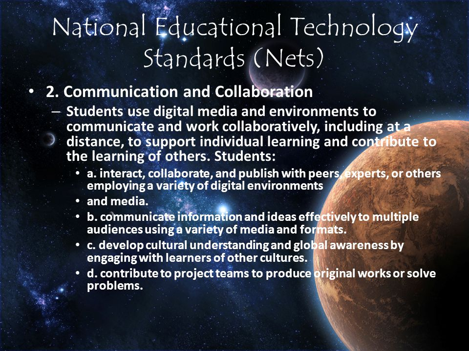 National Educational Technology Standards (Nets) 2.
