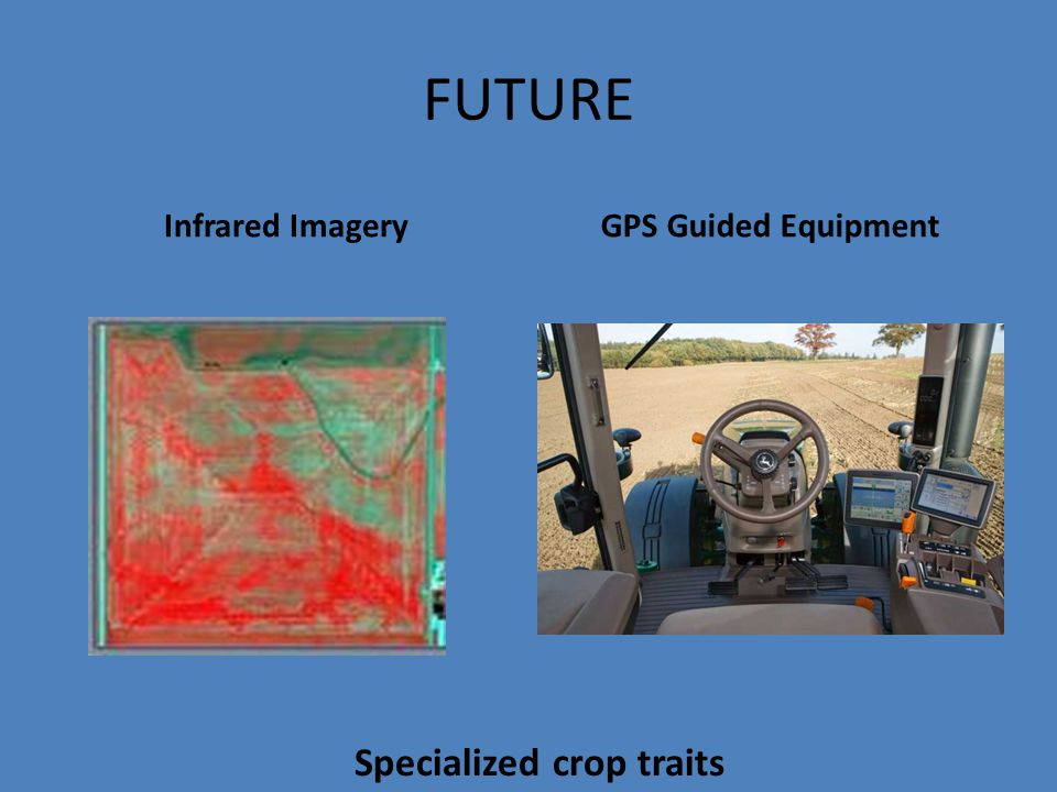 FUTURE Infrared ImageryGPS Guided Equipment Specialized crop traits