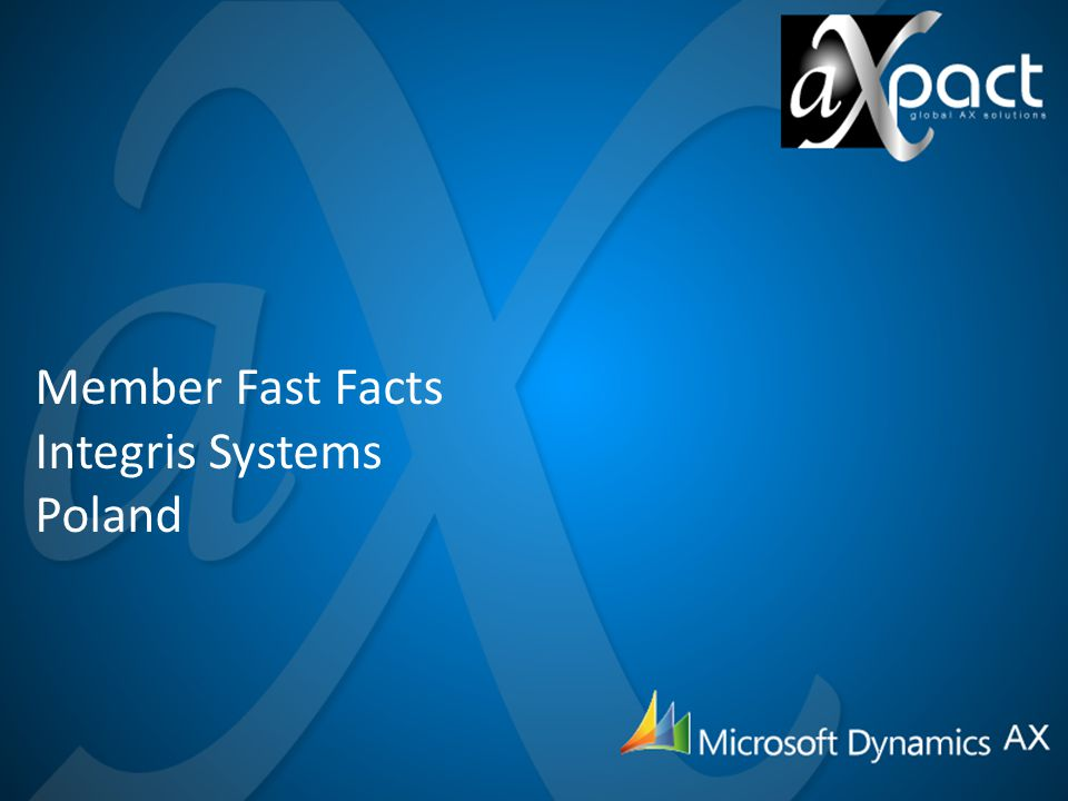 Member Fast Facts Integris Systems Poland