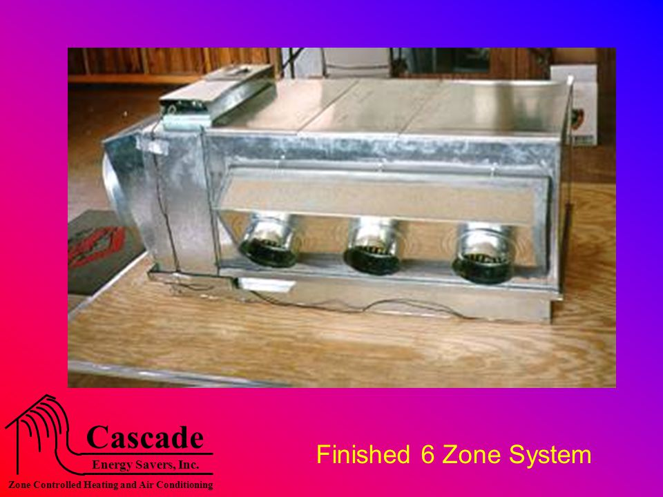 Energy Savers, Inc. Cascade Zone Controlled Heating and Air Conditioning Finished 6 Zone System
