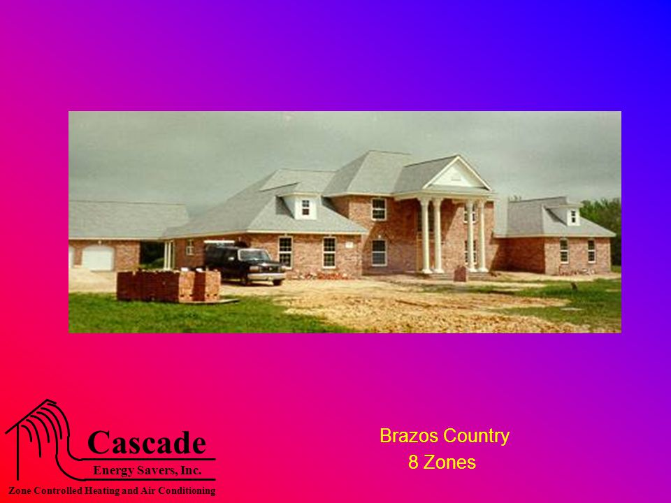 Energy Savers, Inc. Cascade Zone Controlled Heating and Air Conditioning Brazos Country 8 Zones