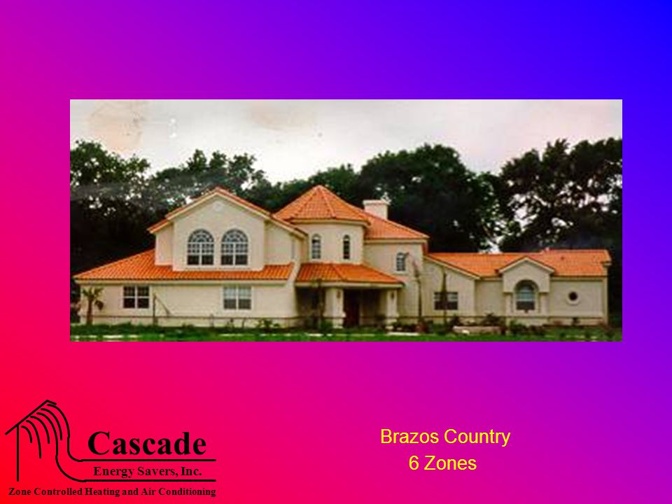 Energy Savers, Inc. Cascade Zone Controlled Heating and Air Conditioning Brazos Country 6 Zones