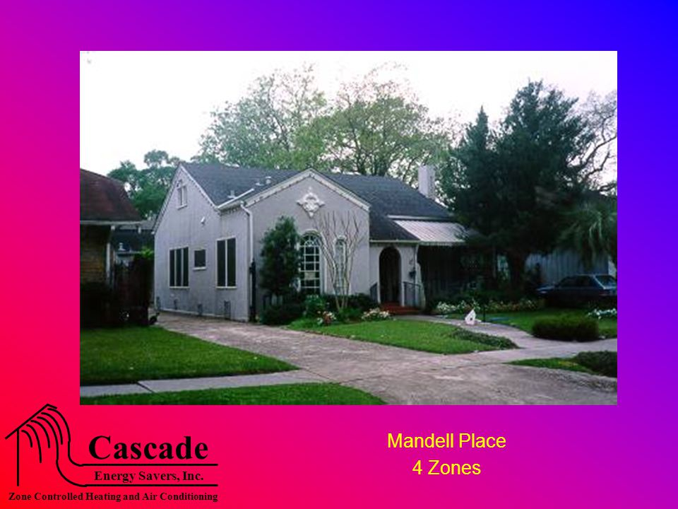 Energy Savers, Inc. Cascade Zone Controlled Heating and Air Conditioning Mandell Place 4 Zones