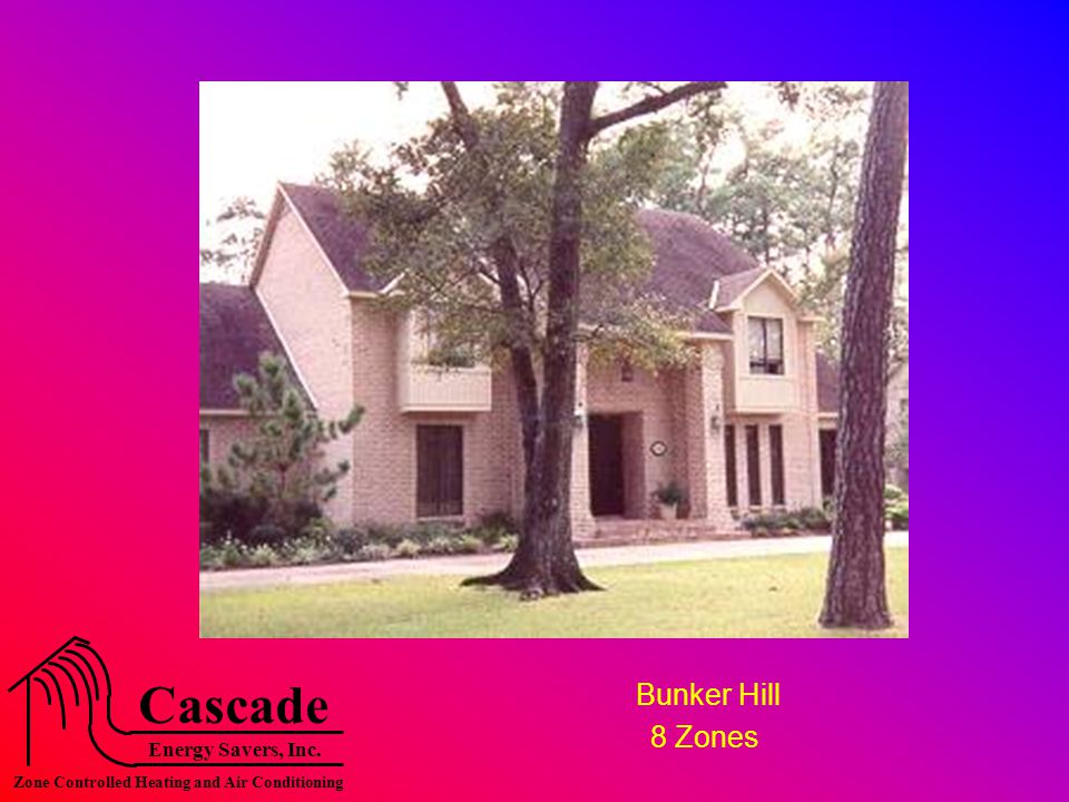 Energy Savers, Inc. Cascade Zone Controlled Heating and Air Conditioning Bunker Hill 8 Zones
