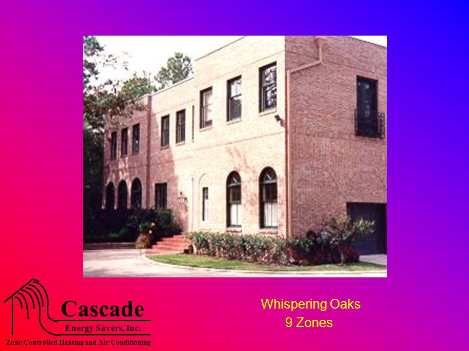 Energy Savers, Inc. Cascade Zone Controlled Heating and Air Conditioning Whispering Oaks 9 Zones