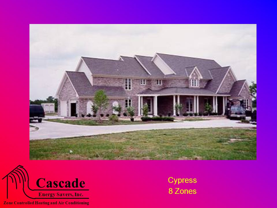 Energy Savers, Inc. Cascade Zone Controlled Heating and Air Conditioning Cypress 8 Zones
