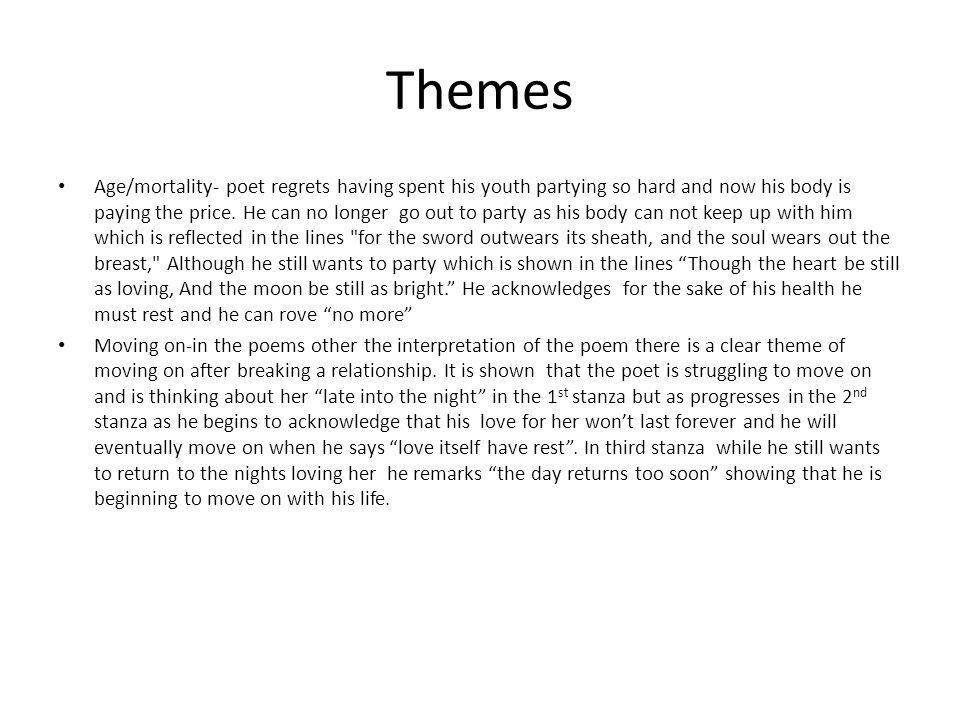 lord byron poem analysis