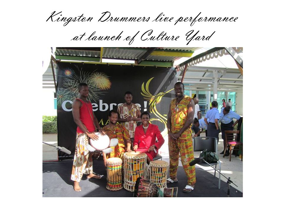 Kingston Drummers live performance at launch of Culture Yard