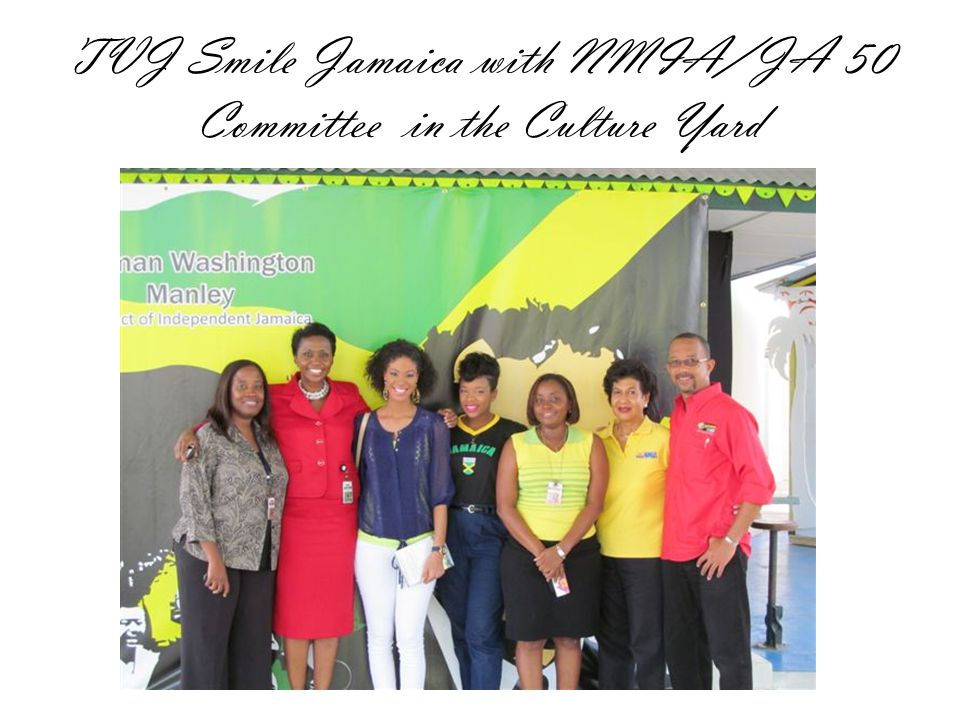 TVJ Smile Jamaica with NMIA/JA 50 Committee in the Culture Yard
