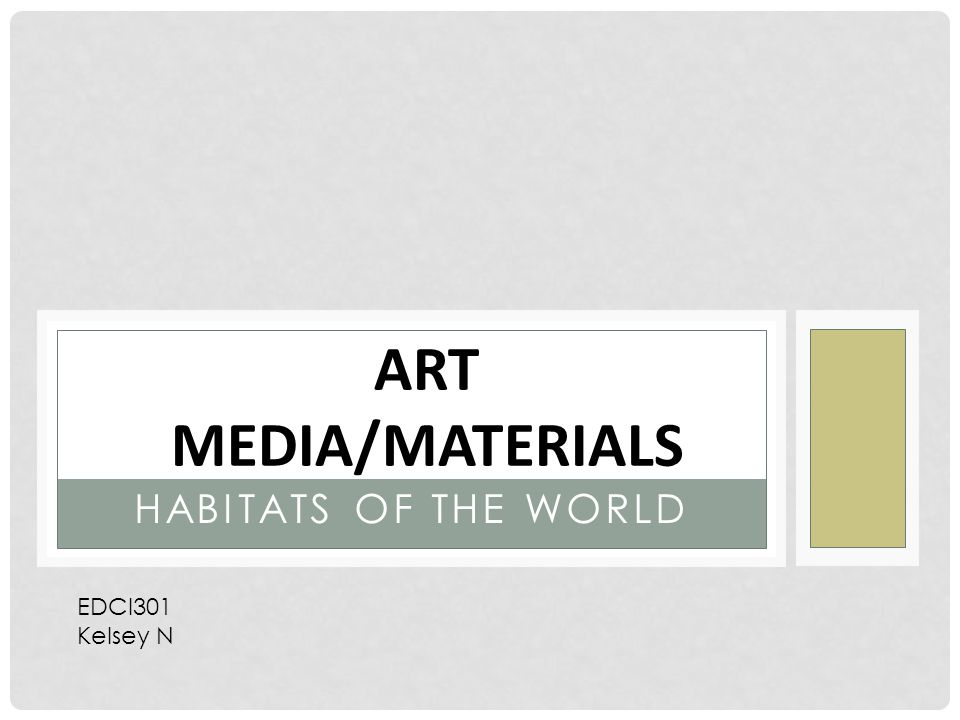 HABITATS OF THE WORLD ART MEDIA/MATERIALS EDCI301 Kelsey N