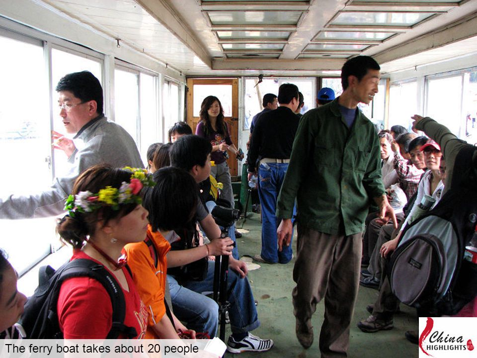 The ferry boat takes about 20 people