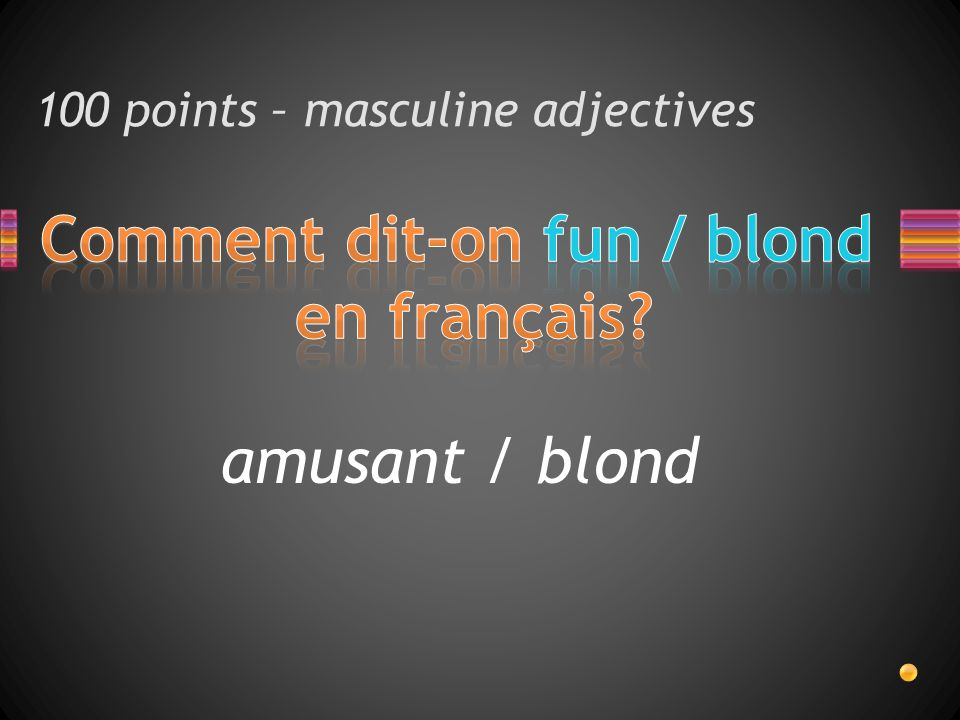 amusant / blond