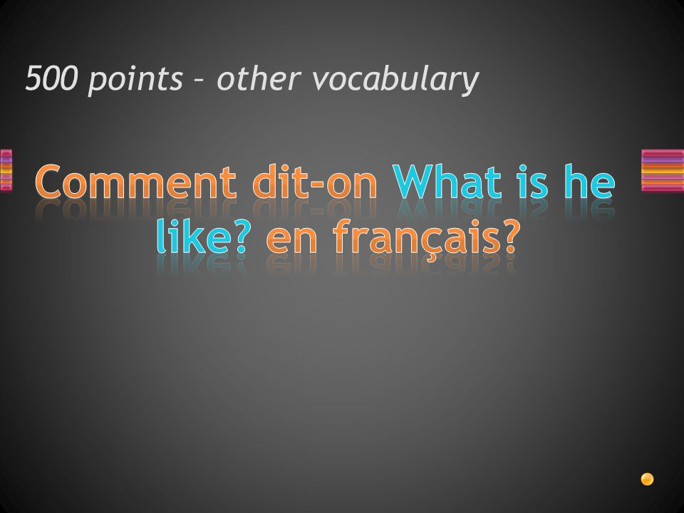 500 points – other vocabulary
