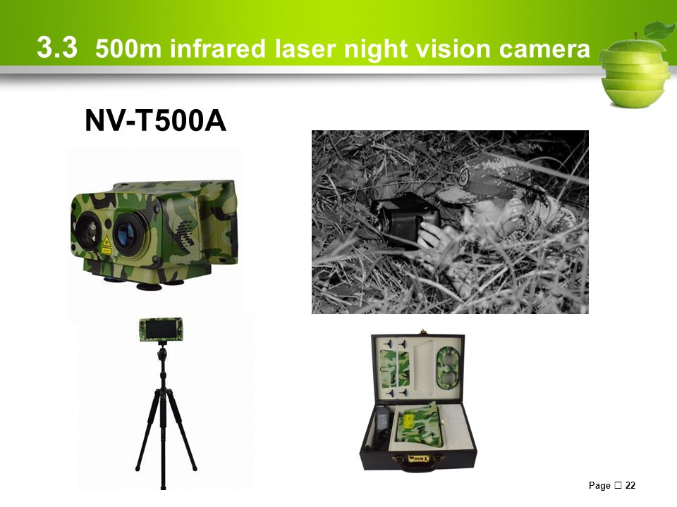 Page  22 3.3 500m infrared laser night vision camera NV-T500A