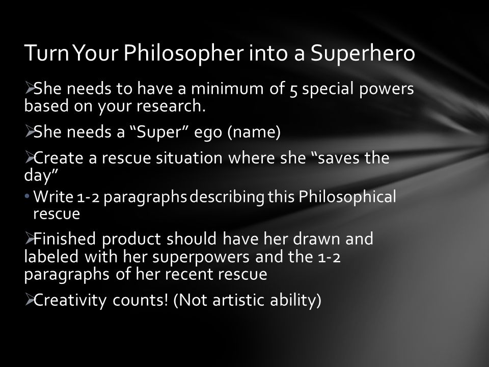  She needs to have a minimum of 5 special powers based on your research.