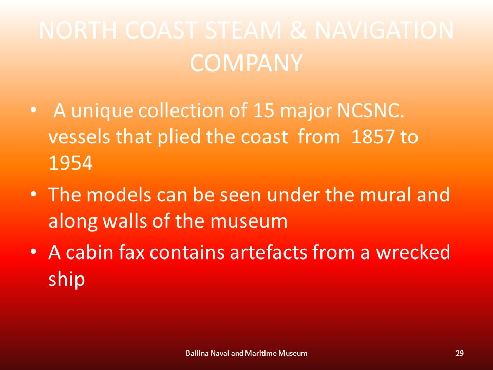 NORTH COAST STEAM & NAVIGATION COMPANY A unique collection of 15 major NCSNC.