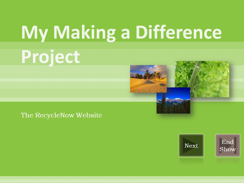 The RecycleNow Website
