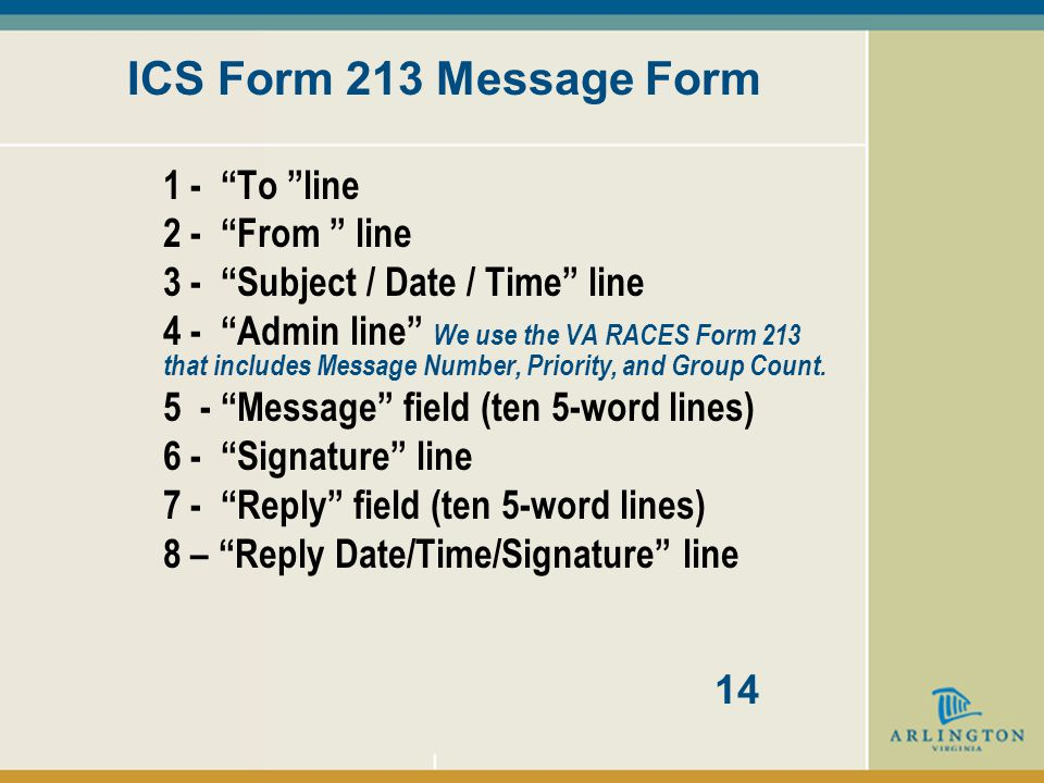 WHAT IS AN ICS MESSAGE.