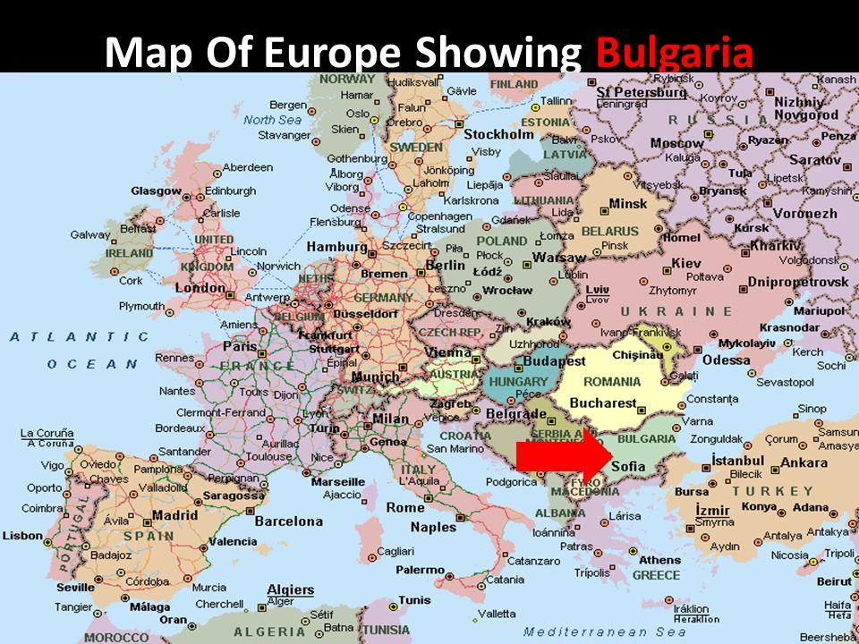 bulgaria map in europe Bulgaria Map Of Europe Showing Bulgaria Map Of Bulgaria Ppt bulgaria map in europe