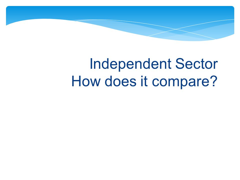 Independent Sector How does it compare