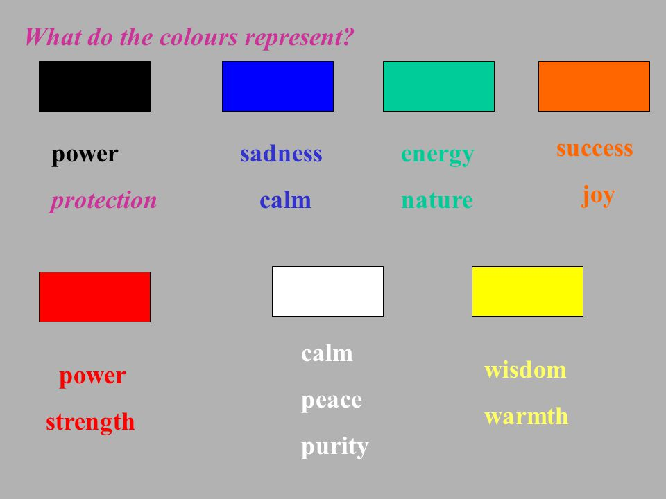 2.Which color belongs to warm colors/ cool colors.