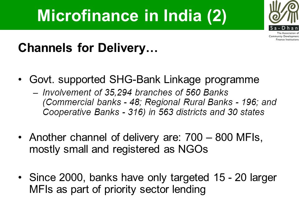 Channels for Delivery… Govt.