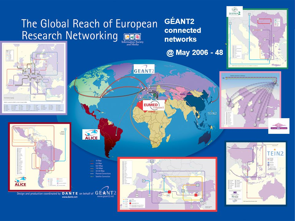 GÉANT2 connected networks @ May 2006 - 48