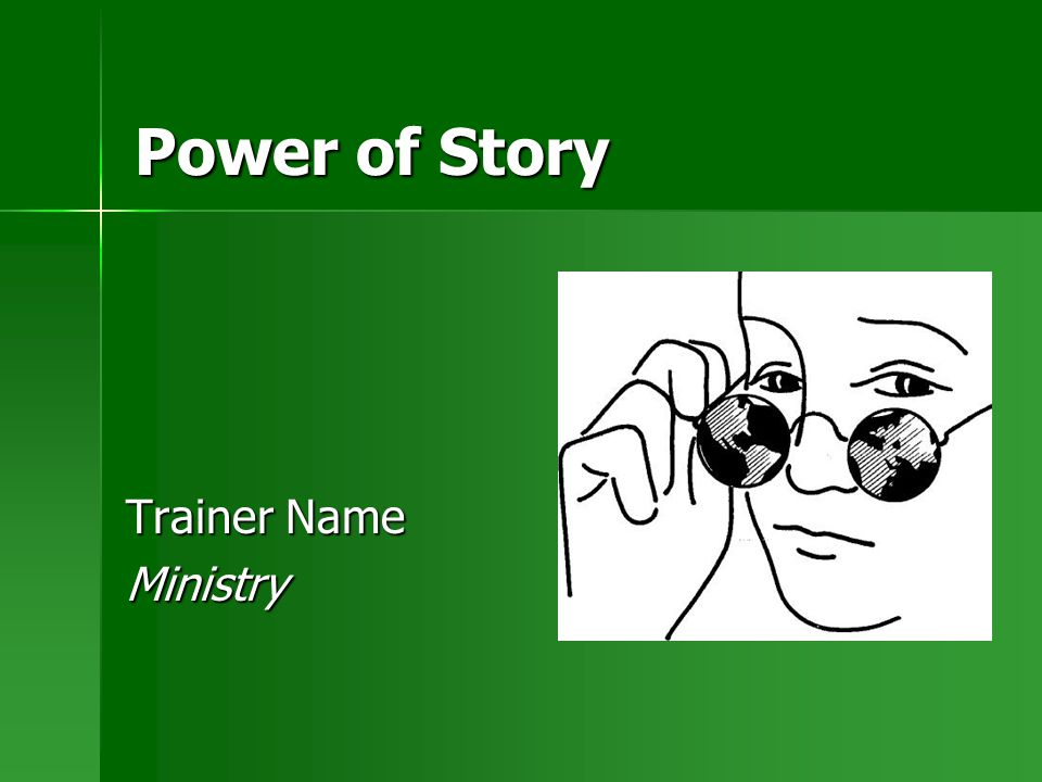 Power of Story Trainer Name Ministry
