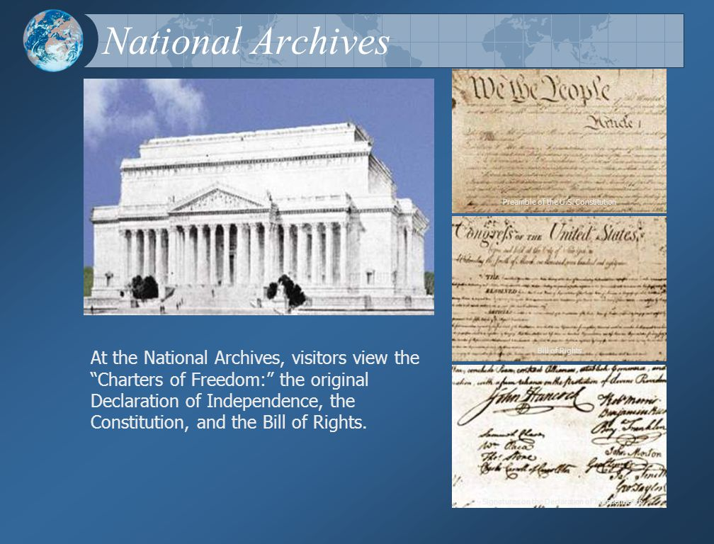 National Archives The National Archives Preamble of the U.S.