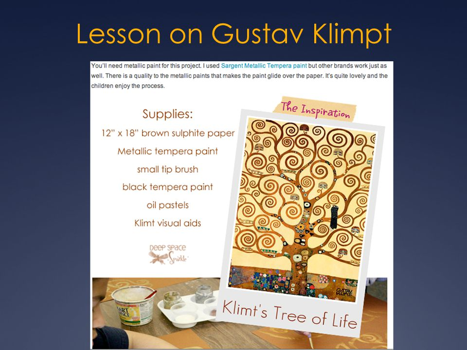 Lesson on Gustav Klimpt