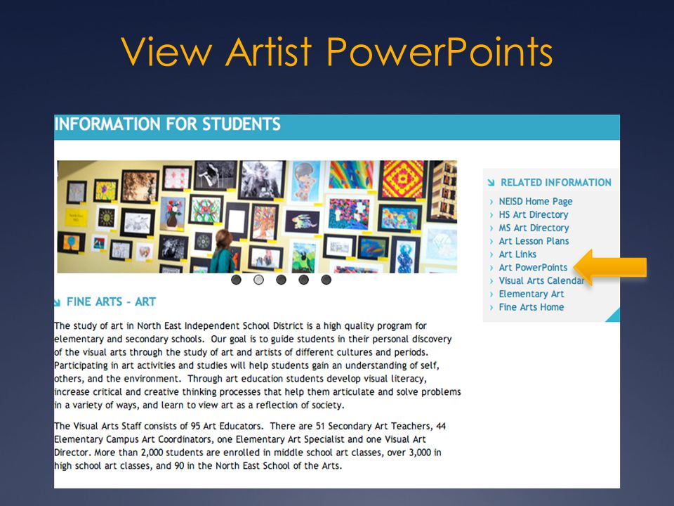 View Artist PowerPoints