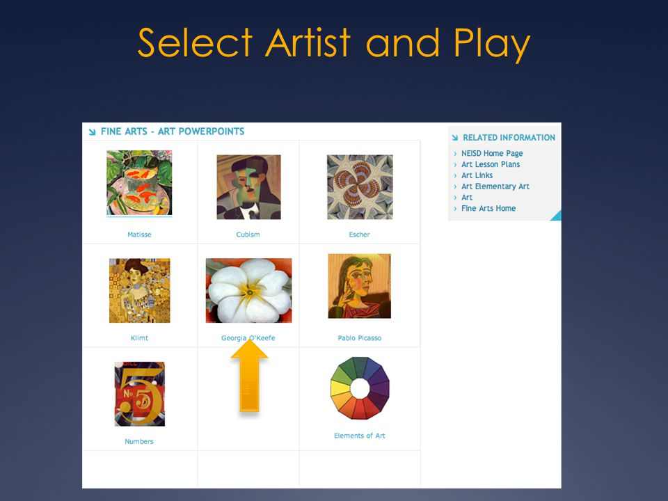 Select Artist and Play O' ke e