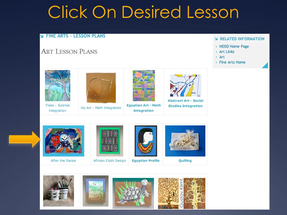 Click On Desired Lesson