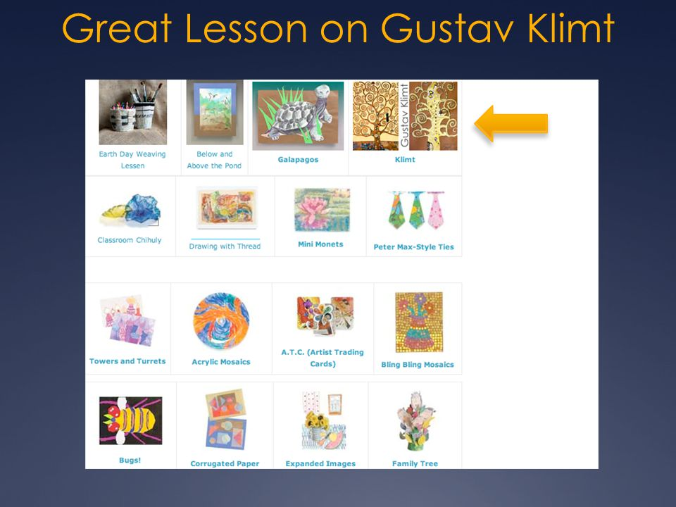 Great Lesson on Gustav Klimt