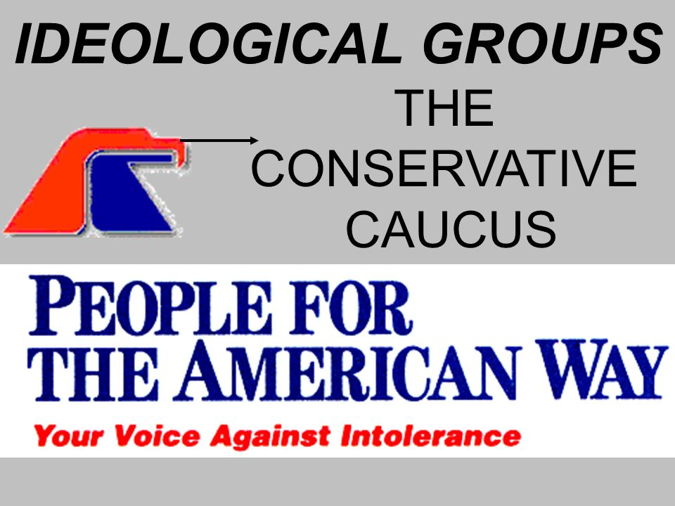IDEOLOGICAL GROUPS THE CONSERVATIVE CAUCUS