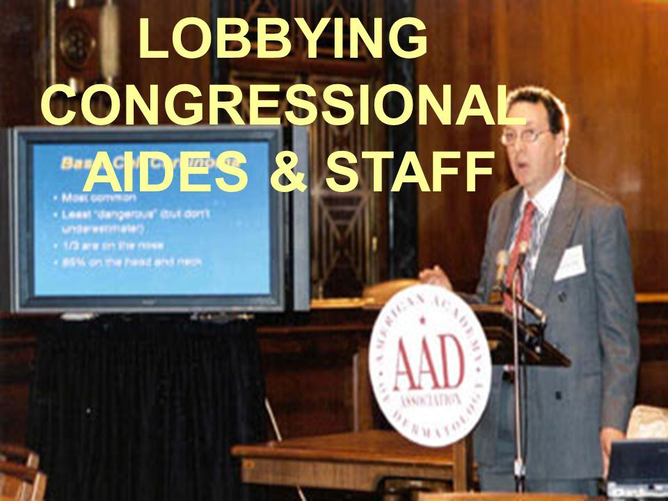 LOBBYING CONGRESSIONAL AIDES & STAFF