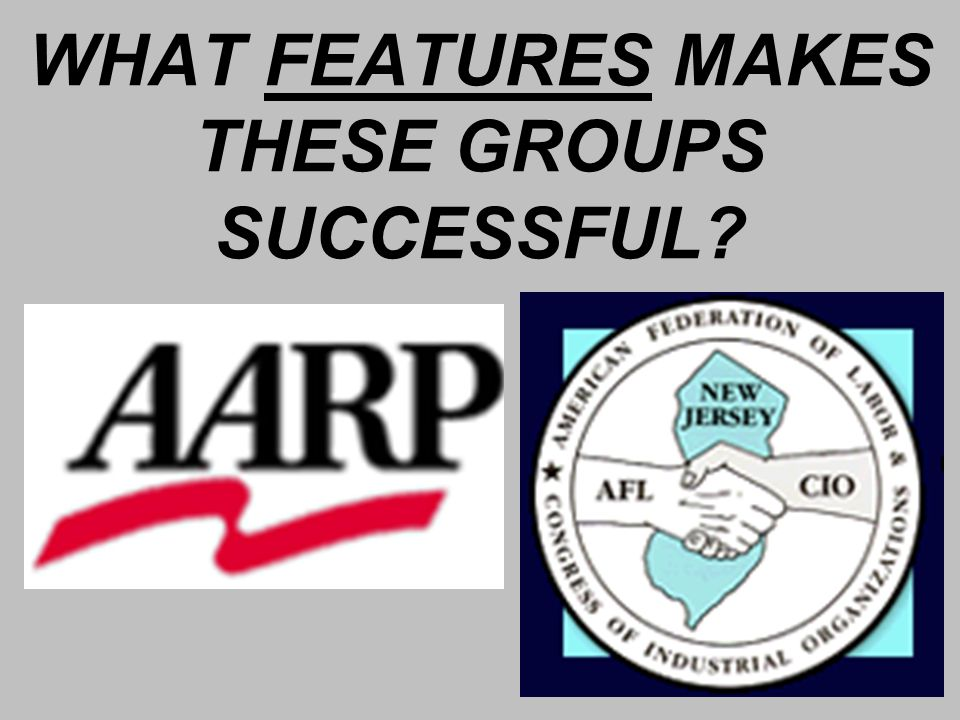 WHAT FEATURES MAKES THESE GROUPS SUCCESSFUL