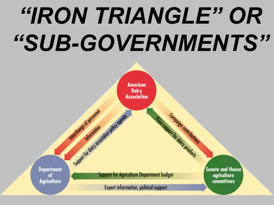 IRON TRIANGLE OR SUB-GOVERNMENTS
