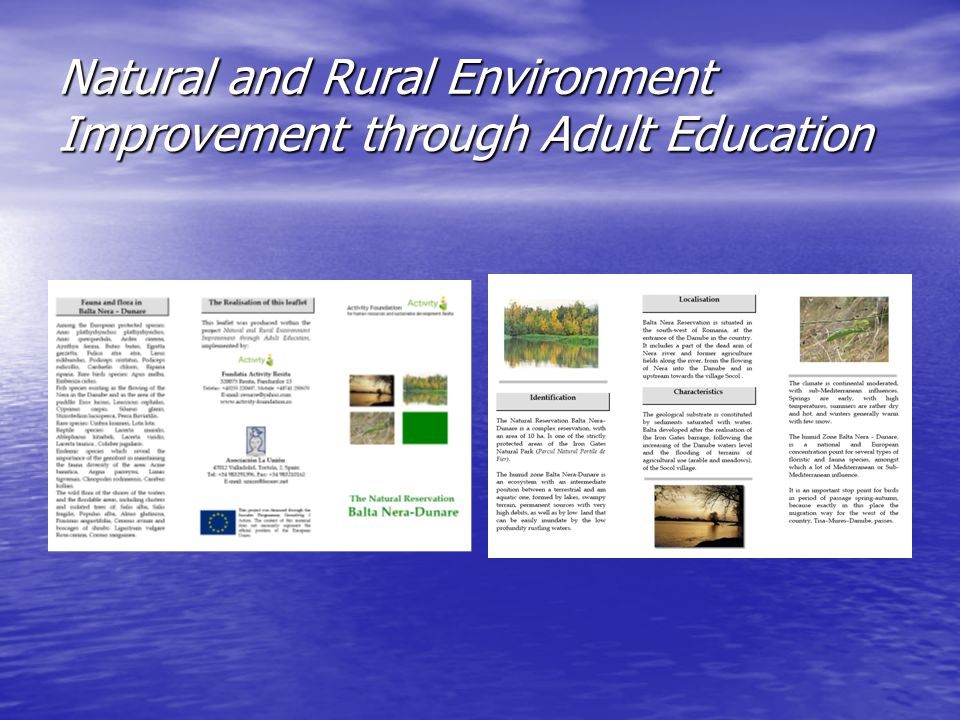 Natural and Rural Environment Improvement through Adult Education