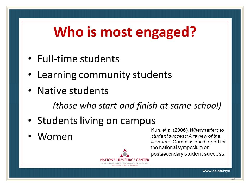 Who is most engaged.