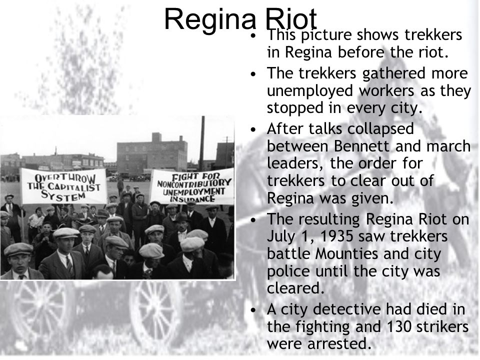 Regina Riot This picture shows trekkers in Regina before the riot.
