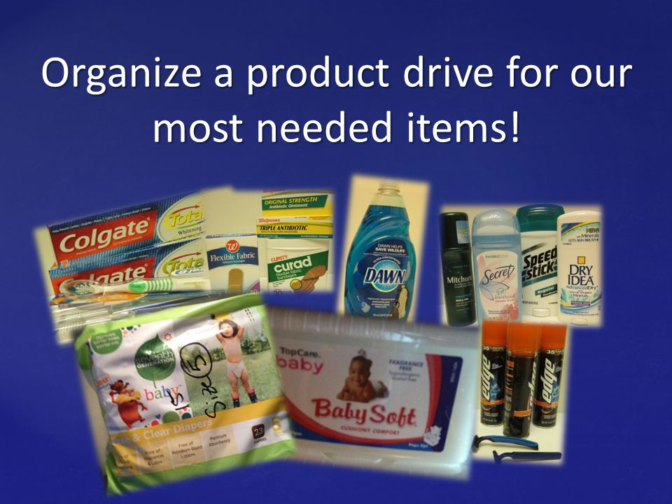 You can Help! Promote the pantry at your church or workplace.