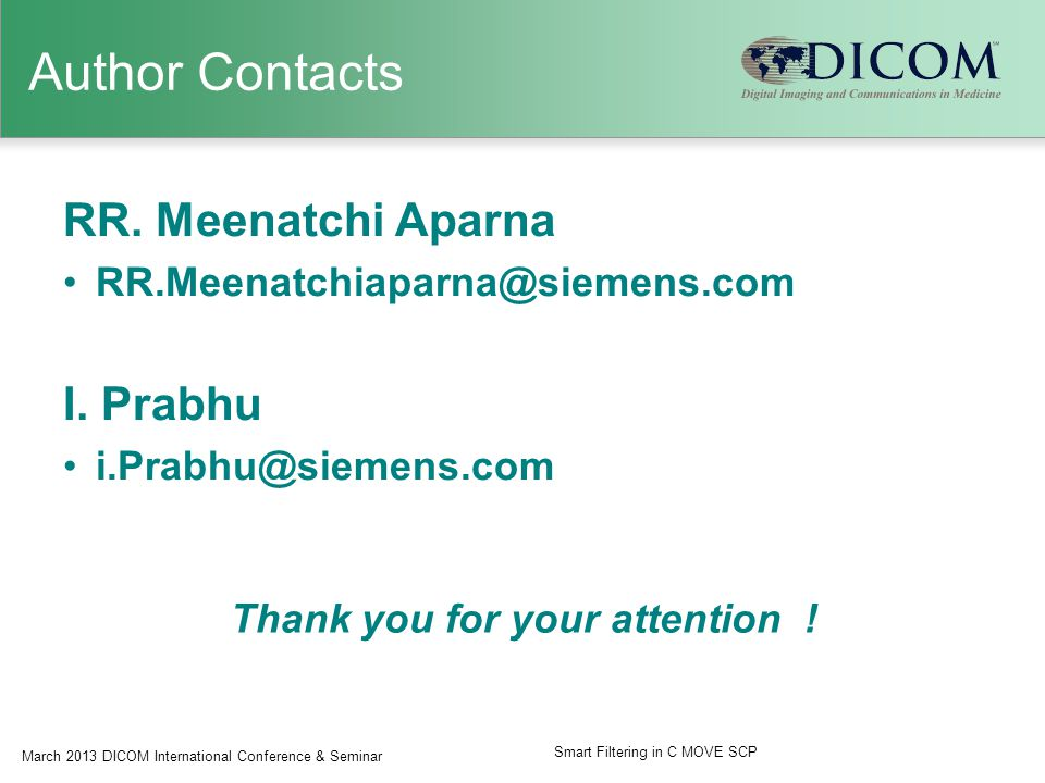 Author Contacts RR. Meenatchi Aparna RR.Meenatchiaparna@siemens.com I.