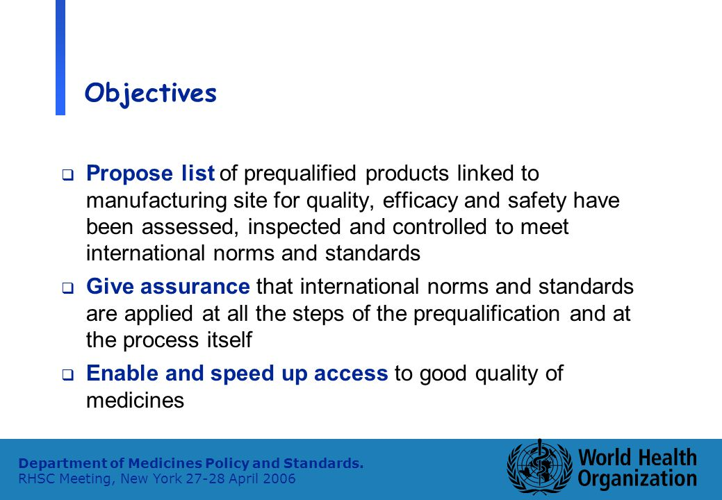 12 Department of Medicines Policy and Standards.