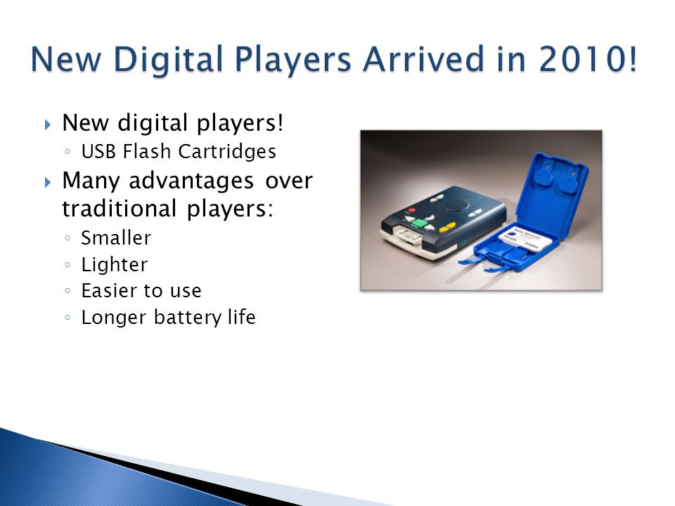  New digital players.